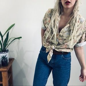 VTG Floral Short Sleeve Button Down